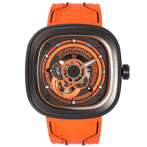 sevenfriday p series p3 07 kuka iii orange gunmetal grey