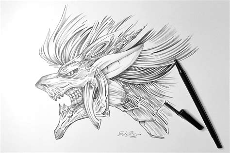 demon dragon by tsaoshin on deviantart