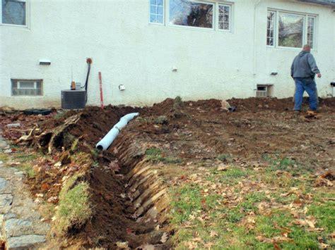 bucks county french drain system basement waterproofing