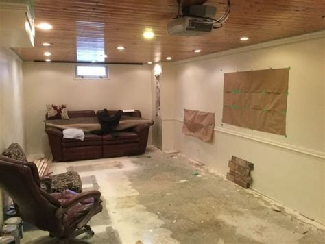 narrow basement ideas basement solutions anyone narrow basement used for mostly tv