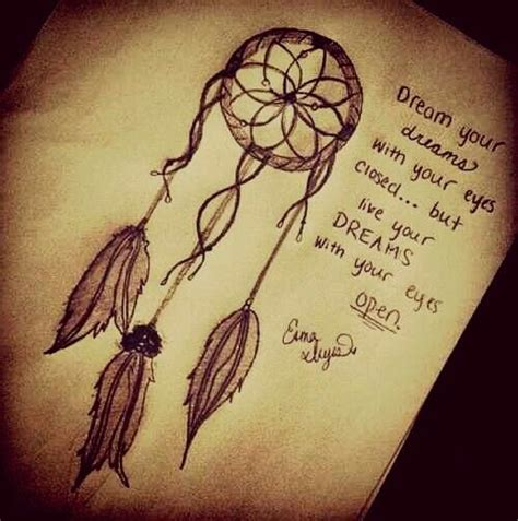 tattoo inspiration dreamcatcher drawn dreamcatcher quote pencil and in color drawn