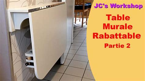 table de cuisine rabattable comment faire une table de cuisine murale rabattable 2 2