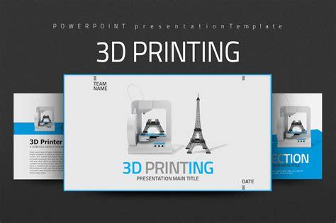 3d Printing Presentation Templates On Creative Market 3d Printer Templates