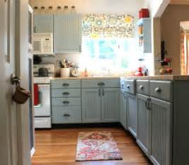 Sherwin williams rain blue painted kitchen cabinets involving color