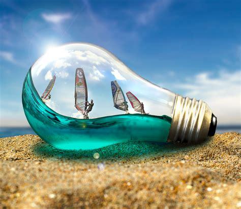 create a background create a lightbulb composition photoshop creative