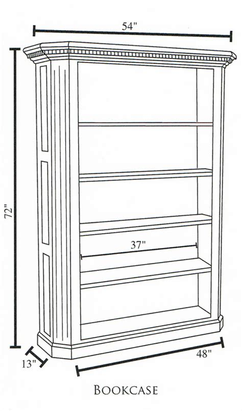 fifth avenue bookcase ohio hardwood furniture