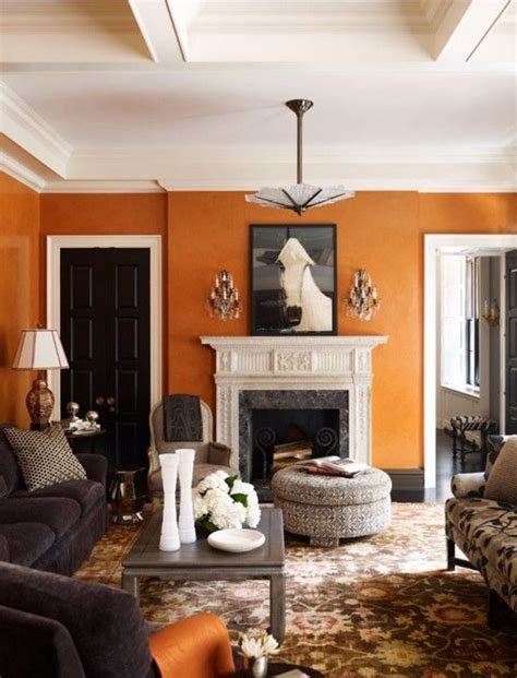 Burnt Orange Living Room Walls by Color Therapy Orange Walls 20 Photos Messagenote