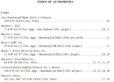 appellate brief table of authorities exle hba appellate lawyer appellatech automated table of