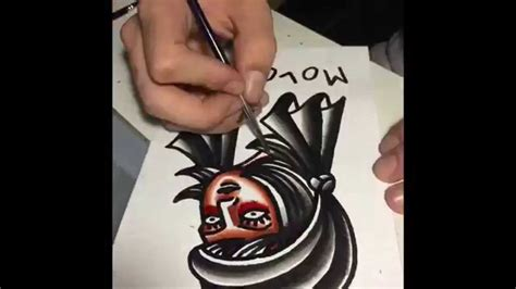 tattoo flash youtube tattoo flash speed painting youtube