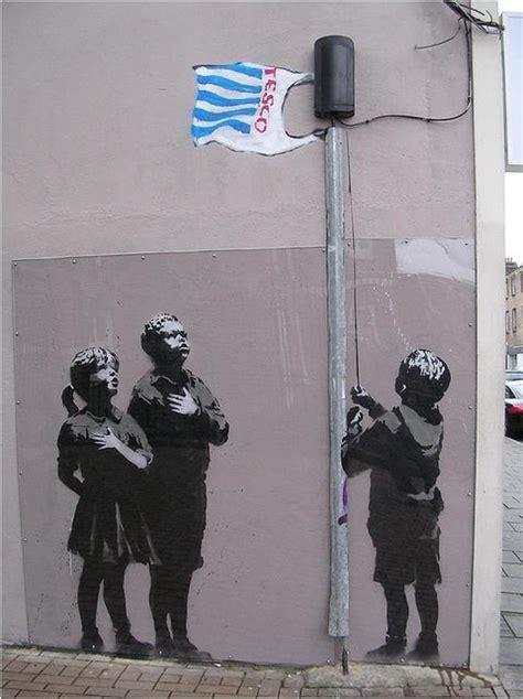 banksy graffiti locations stencil street art photo