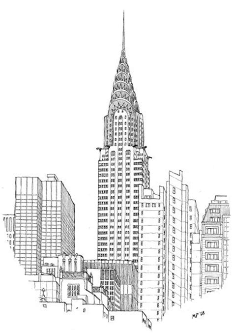 pencil drawings buildings building sketch stock photos the chrysler building by the great matteo pericoli