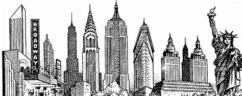 cartoon tattoo new york new york skyline drawing new york city skyline sketch