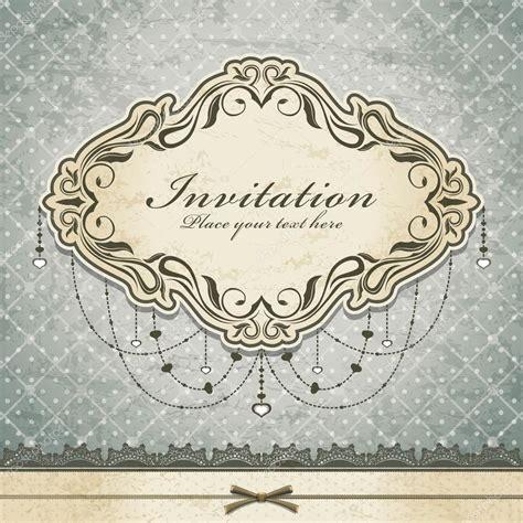 vintage invitation frame template stock vector 13028542