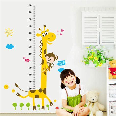 height chart wall stickers height chart wall sticker home decor giraffe
