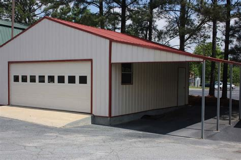 Car Port Garage by Steel Structure Garage With Lean To Carport Attachment 2