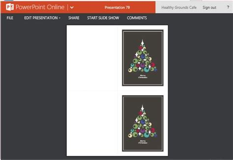 Christmas Cards Maker Template For Powerpoint Online Card Powerpoint Template