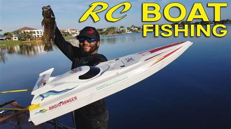 rc boats for fishing rc boat fishing for big bass monster mike youtube