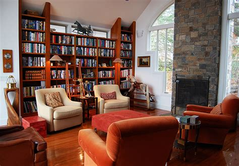 interior architecture conventional custom home library