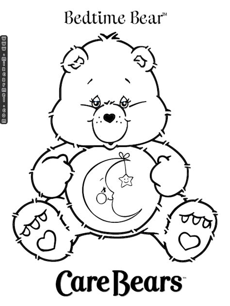 Home Daycare Decor by Care Bears Coloring Pages Bedtime Bear 1 Gif 540 215 720