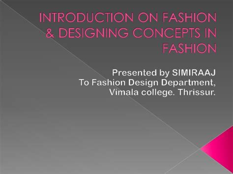 patternmaking for fashion design slideshare introduction on fashion designing concepts in fashion