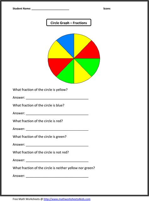 3rd Grade Fractions Worksheets by Third Grade Math Worksheets