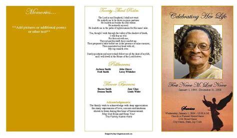 beloved angel trifold funeral program template elegant