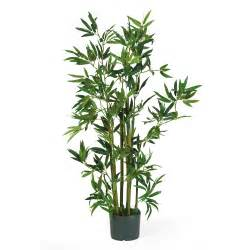 silk plants 4 foot bamboo plant potted 5040