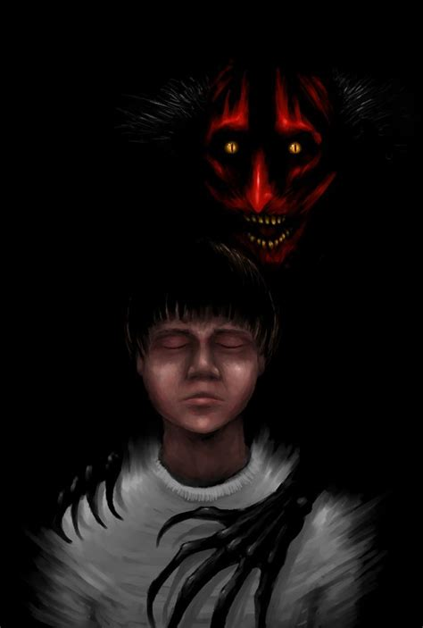 insidious movie red faced demon the man with fire on his face by ectmonster on deviantart
