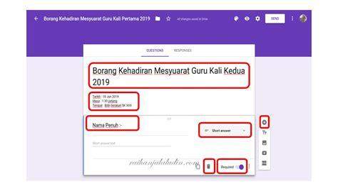 contoh borang soal selidik google form