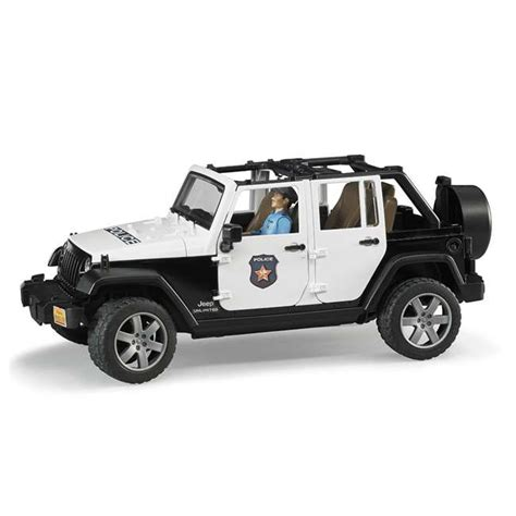 police jeep toy bruder toys jeep rubicon police car with policeman and