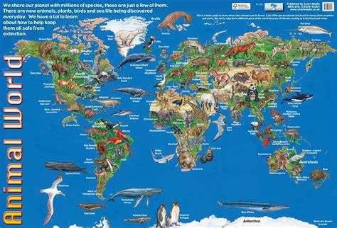 animal world poster by chart media chart media