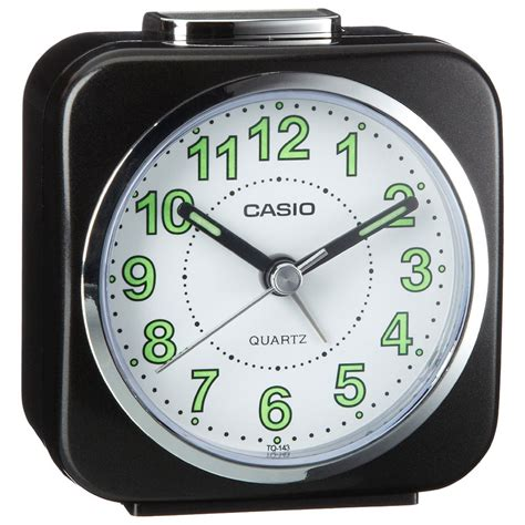 casio alarm clock with light and snooze analog luminous tq143s 1 4549526121760 ebay