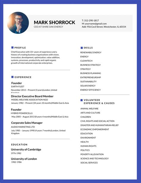 resume format with photo 50 most professional editable resume templates for jobseekers