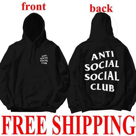 Jaket Sweater Zipper Anti Sosial Sosial Club Navy Dealdo Merch antisocial social club hoodie anti social social club hooded kanye sweatshirts