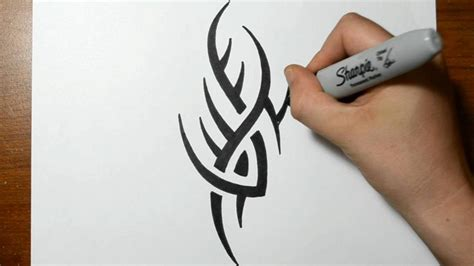 basic tribal tattoos simple tribal to draw amazing
