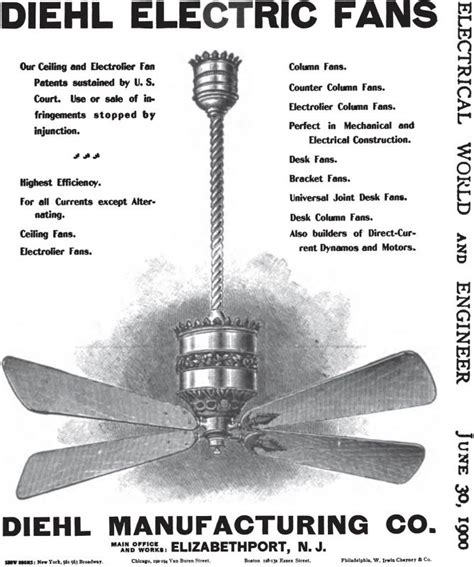 who invented ceiling fan antique electric fans