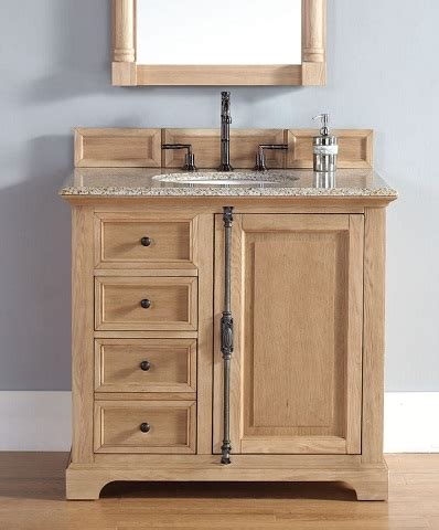 Bathroom Cabinets Wood Homethangs Has Introduced A Guide To Unfinished Solid Wood Bathroom Vanities From