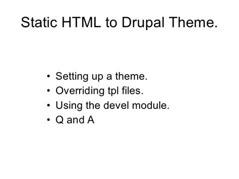 drupal theme override converting static html to drupal theme