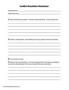 conflict calendar template conflict resolution worksheet kindergarten 6th grade