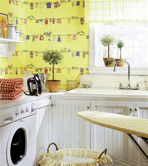 Decorating Laundry Room Walls by Creative Wall Sticker Pattern For Laundry Room Decor Ideas