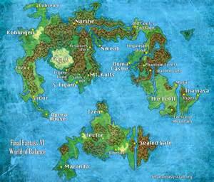 Ff6 World Map by 187 Final Fantasy Vi World Map I