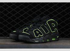 Nike Air More Uptempo 'Black/Volt' For Sale – Hoop Jordan Jordans Shoes Men