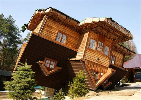 upside down house poland 7 surreal buildings that look like they belong in an mc escher painting