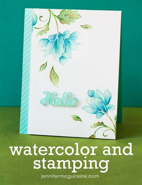 by jennifer mcguire ink video watercolor and sting blog hop giveaways