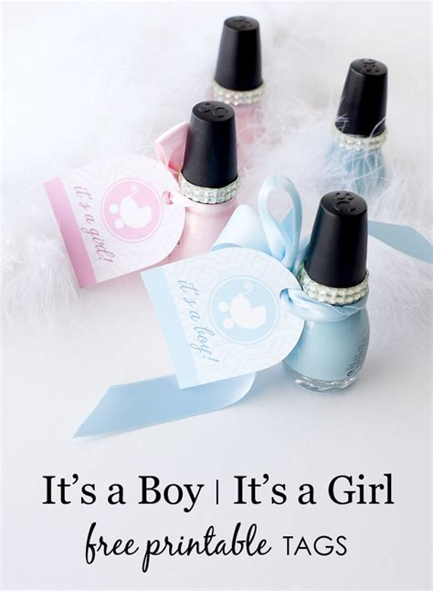 Baby Shower Giveaway Tags - it s a boy it s a girl free printable tags project nursery