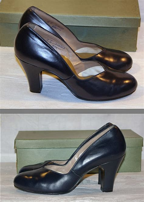 40s style shoes 40s vintage navy calfskin pumps