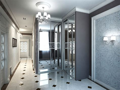 hallway closet doors modern spaces with mirrored closet doors
