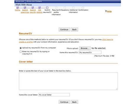 submit resume alcoa career guide alcoa application