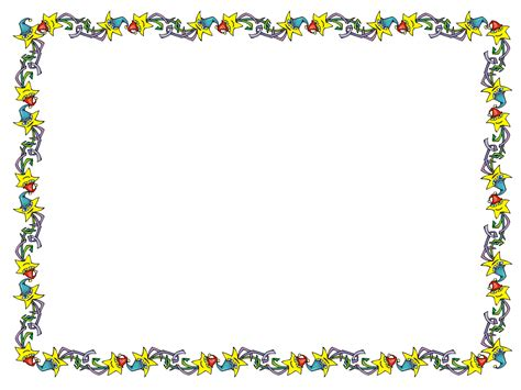 Star Border Template amd moon stationery border sheets by
