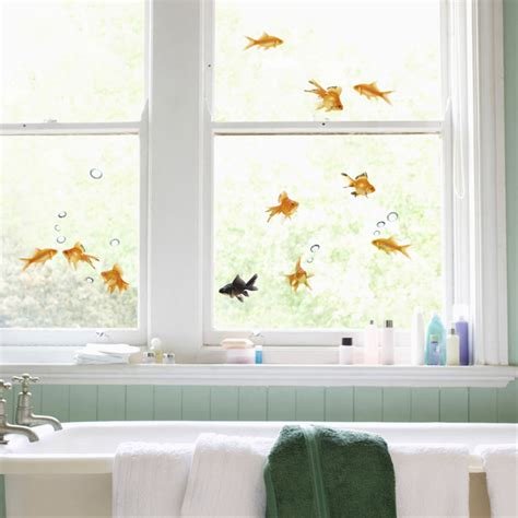 decorative window decals for home goldfish window decals the green head